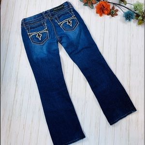 Rock Revival $189 Eugenia Boot Cut Size 33 Jeans